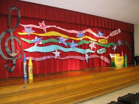 This would be beautiful for music in our schools month or talent show.