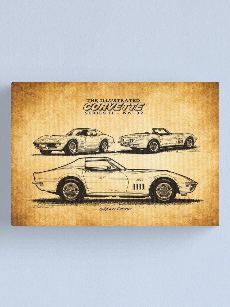 1969 Chevrolet Corvette Stingray Art Car Guy Gift C3 Corvette Chevy Corvette Man Cave Art Canvas Print By Mancavecarart In 2021 Car Guy Gifts Chevy Corvette Chevrolet Corvette Stingray