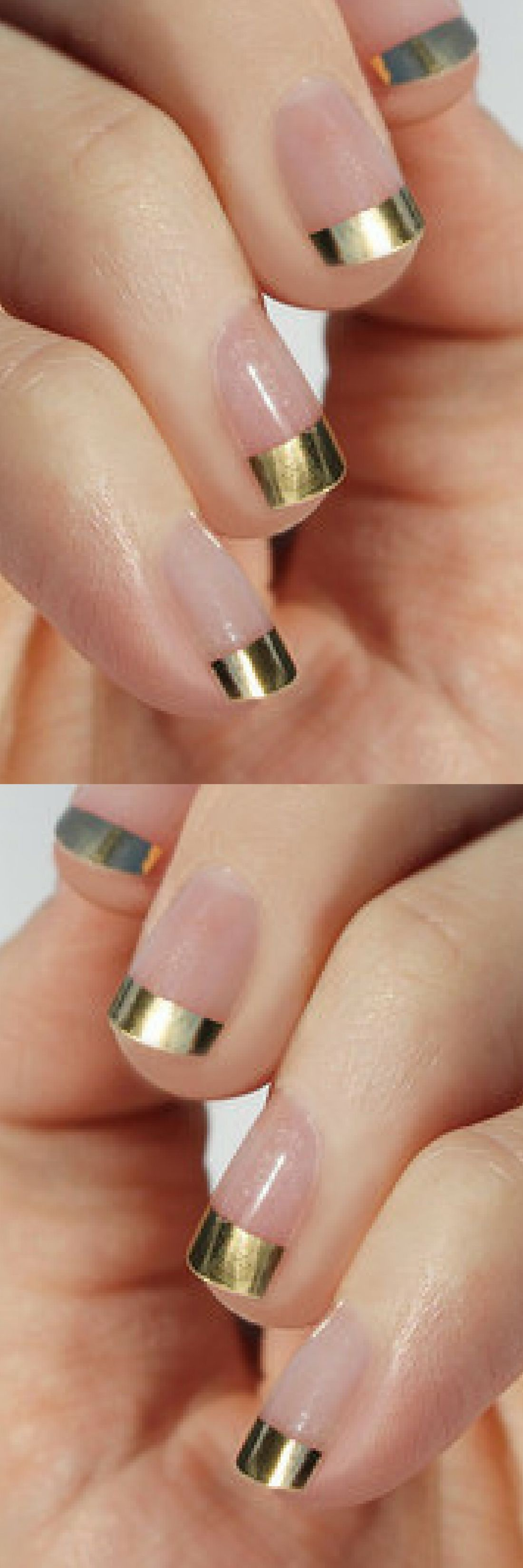 Gold French Nail Wraps. Just heat, stick & file your way to a gold ...