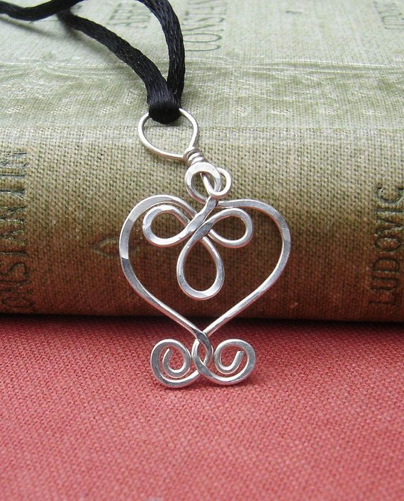 Little Celtic Heart Sterling Silver Wire by nicholasandfelice, $14.00