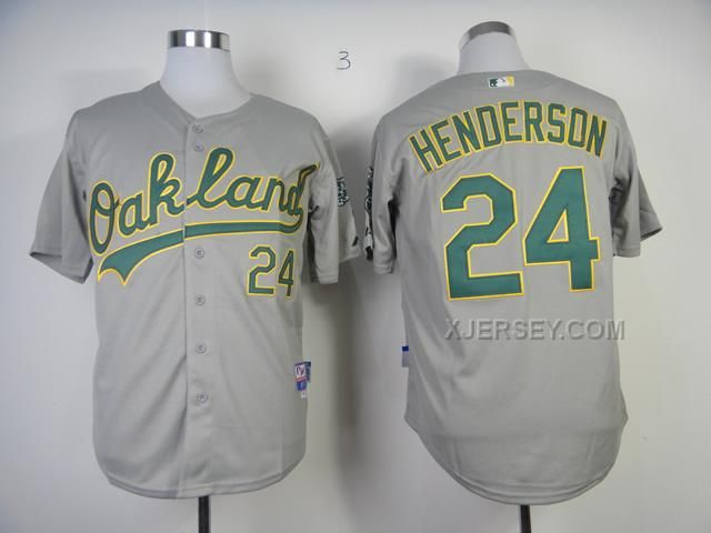 http   www.xjersey.com athletics-24-rickey-henderson-grey-cool-base ... 0c1c400fe