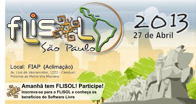 27/04/13 - FLISOL São Paulo! A Novatec estará presente.