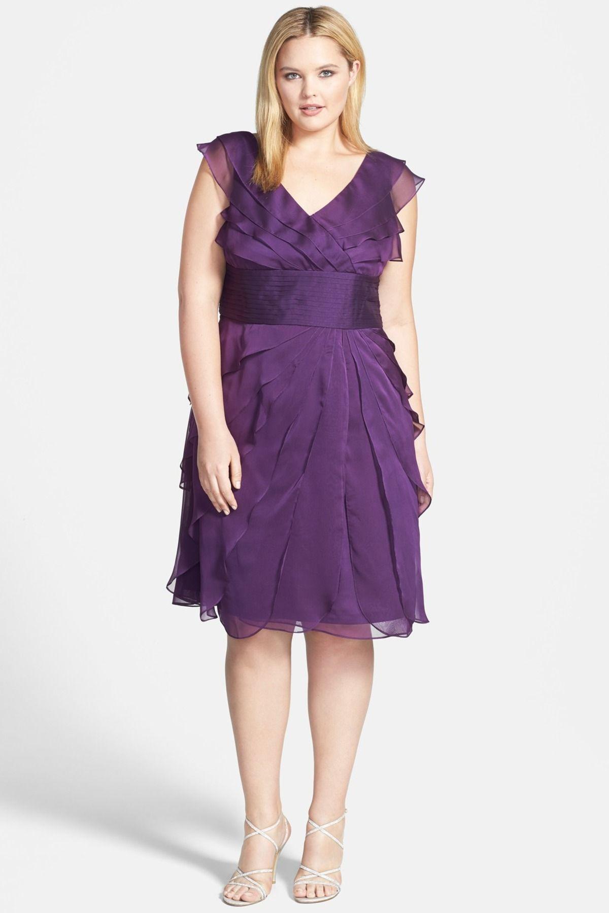 Chiffon Petal Dress (Plus Size)