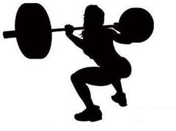 woman back squat decal 500 via etsy  back squats