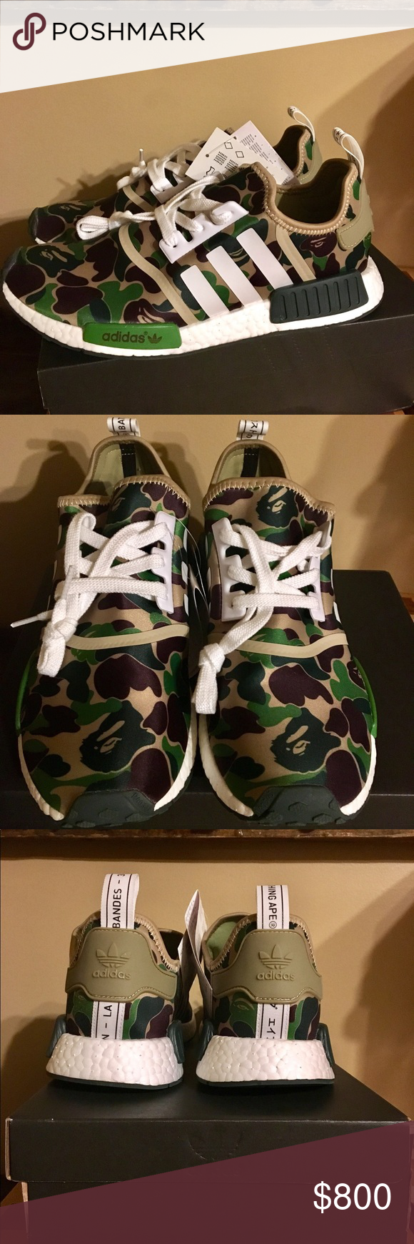8b06f76a Bape NMD R1 size 12 Dead stock comes with receipt adidas Shoes Athletic  Shoes