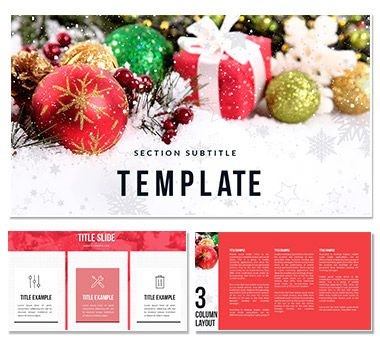 Merry Christmas PowerPoint template ImagineLayout - christmas powerpoint template