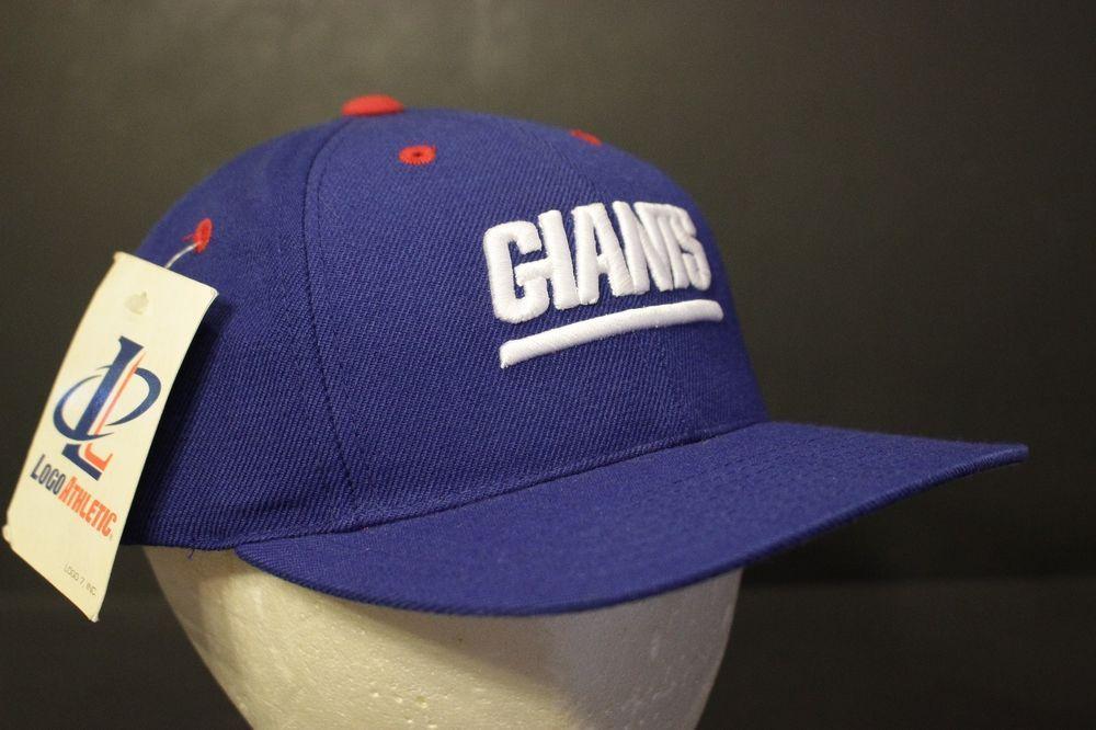 ec833962581 Vintage New York Giants Snapback Hat Baseball Cap Blue Log Athletic Retro  NOS  LogoAthletic  BaseballCap