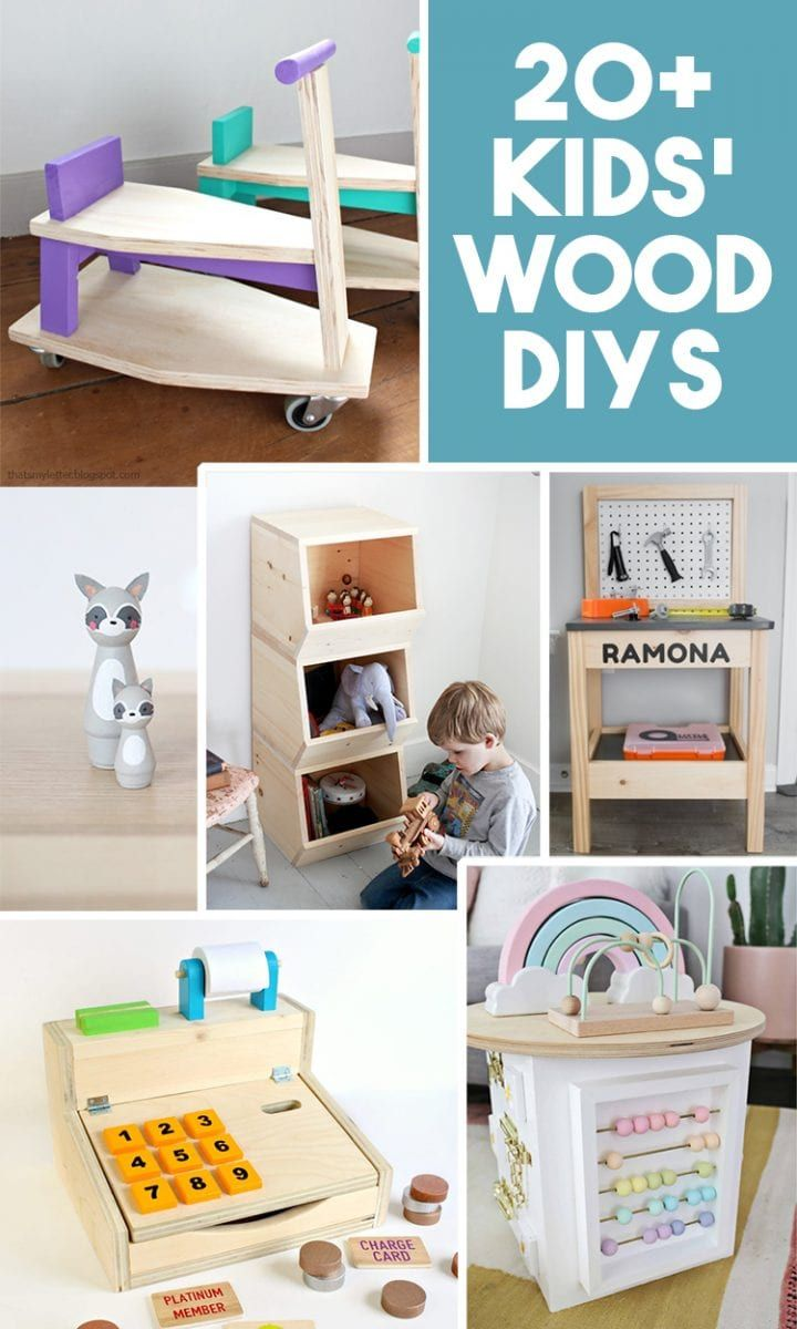 20+ DIY Wood Projects to Make for Kids -   19 diy Wood kids ideas