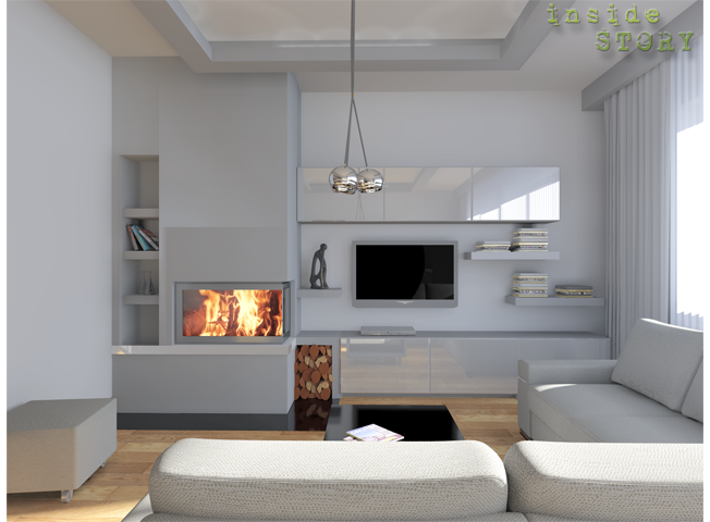 Salon Z Kominkiem Naroznym Wersja Mobilna Home Living Room Interior Design Home