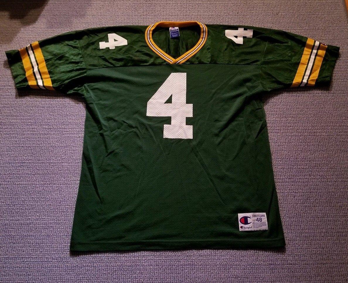 Champion NFL Green Bay Packers Brett Favre  4 Jersey Men s Size 48   BrettFavre  Jersey  GreenBayPackers  NFL  Champion  48  Green  Football   Mens  ForSale d34480362