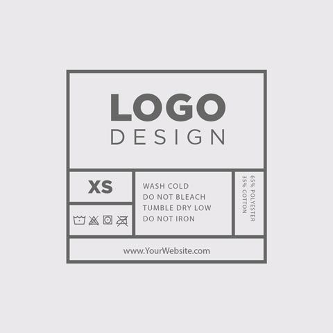 Reinforce your brand by choosing from one of 14 custom layouts for screen-printed tags. Download your t shirt tag template online at Real Thread today!