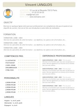 Exemples de CV BAC Pro / Etudiant en Bac Professionnel ...