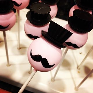Cake Ball Love: The Original San Diego Cake Ball and Cake Pop Company I mustache you a question...do you fancy my top hat? #cakepop #mustache #tophat https://www.facebook.com/CakeBallLove
