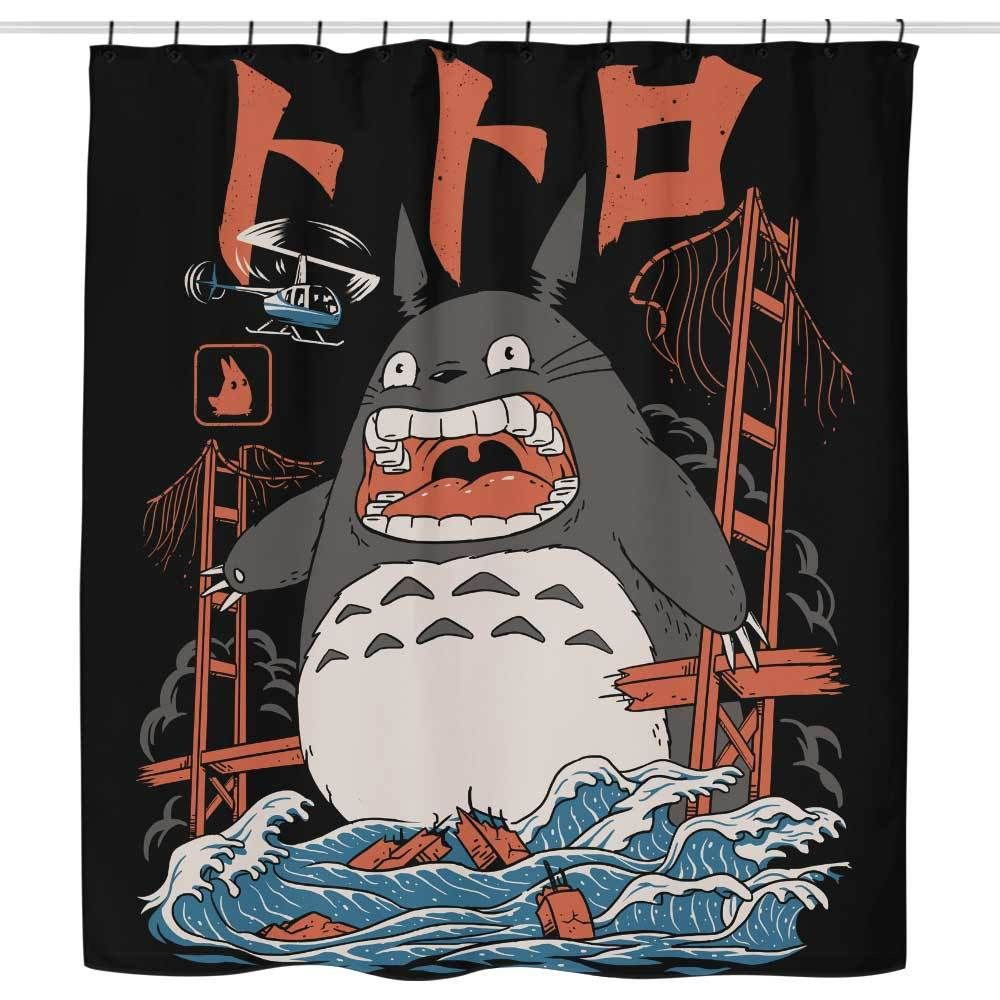 The Neighbors Attack Shower Curtain Studio Ghibli Art Anime Art Anime