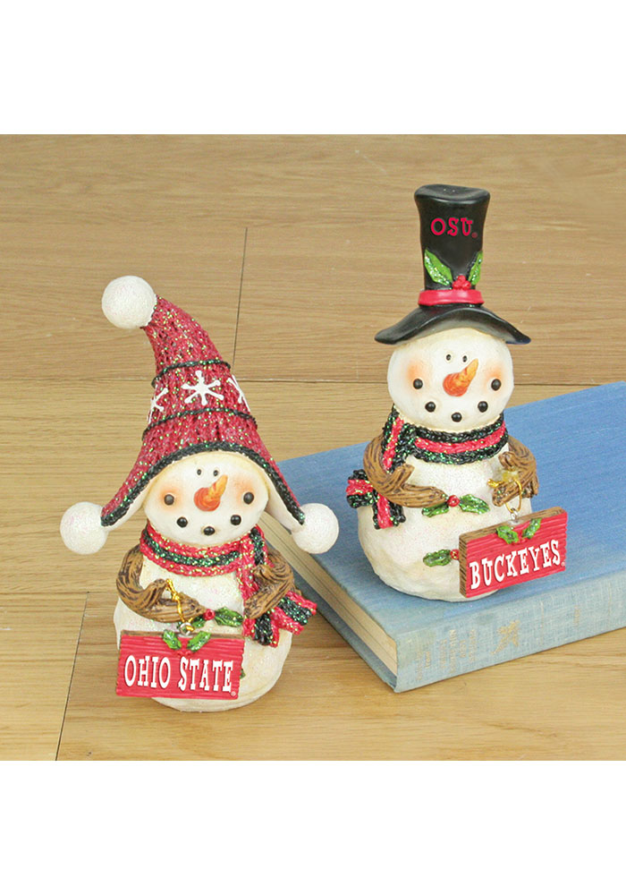 Ohio State Buckeyes Snowman Fans 2-Pack Decor - 34940179