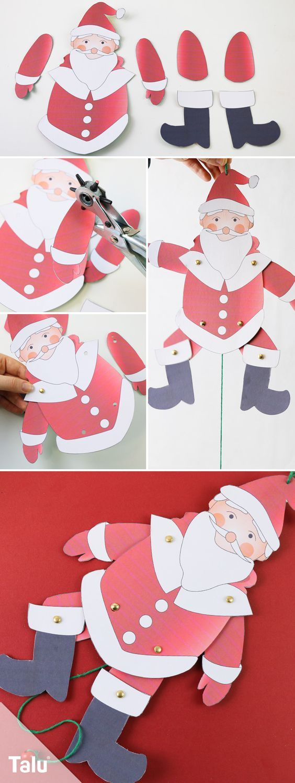 Weihnachtsmann Basteln Anleitung Und Vorlagen