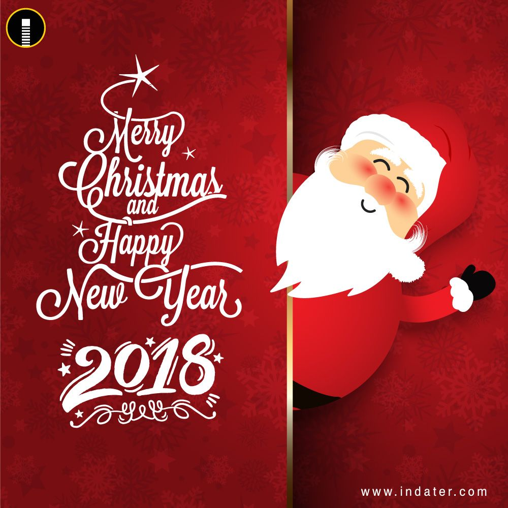happy new year and merry christmas greetings psd template merry