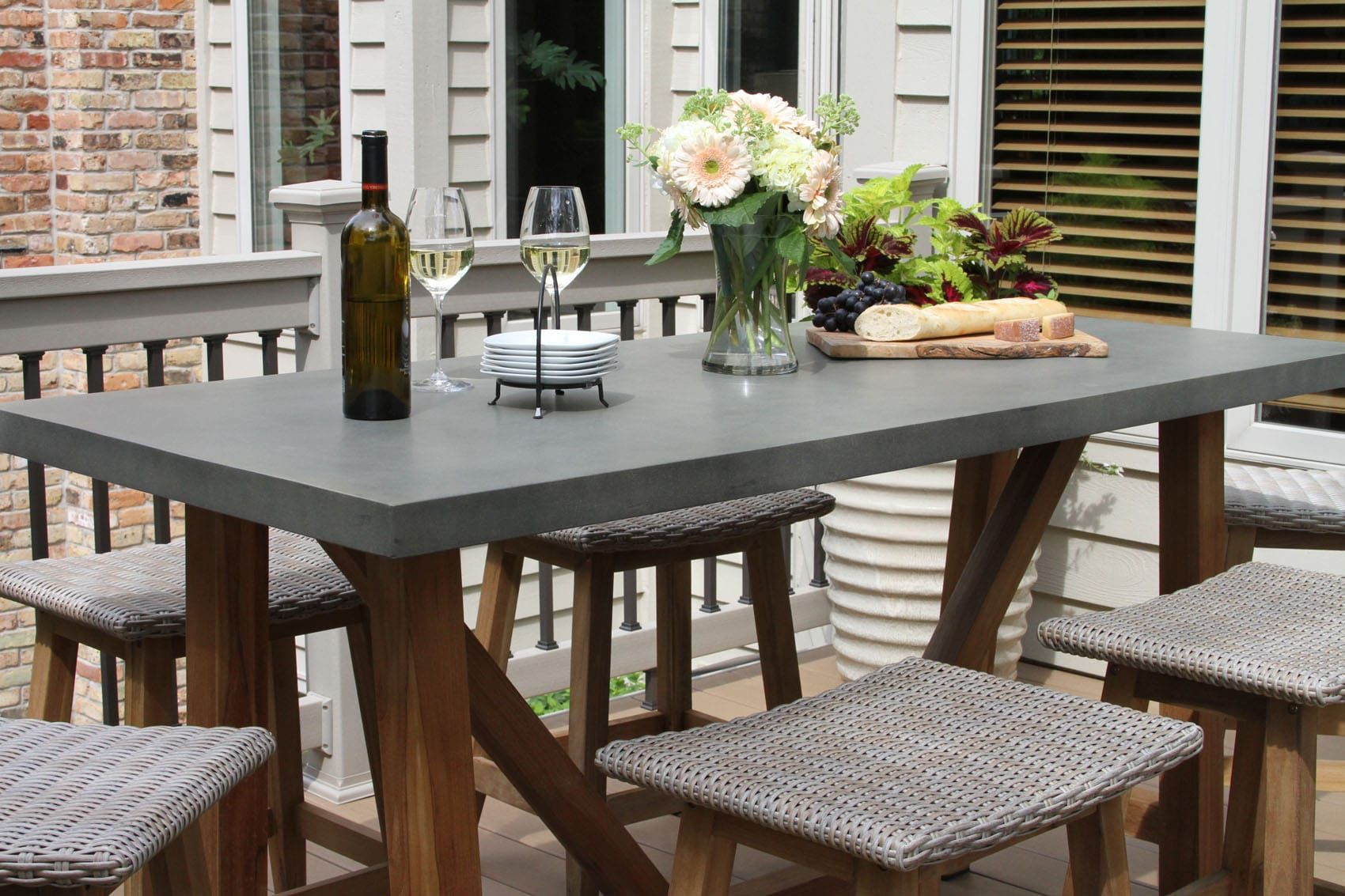 Teak Poly Resin Composite Counter Height Dining Table Is Our