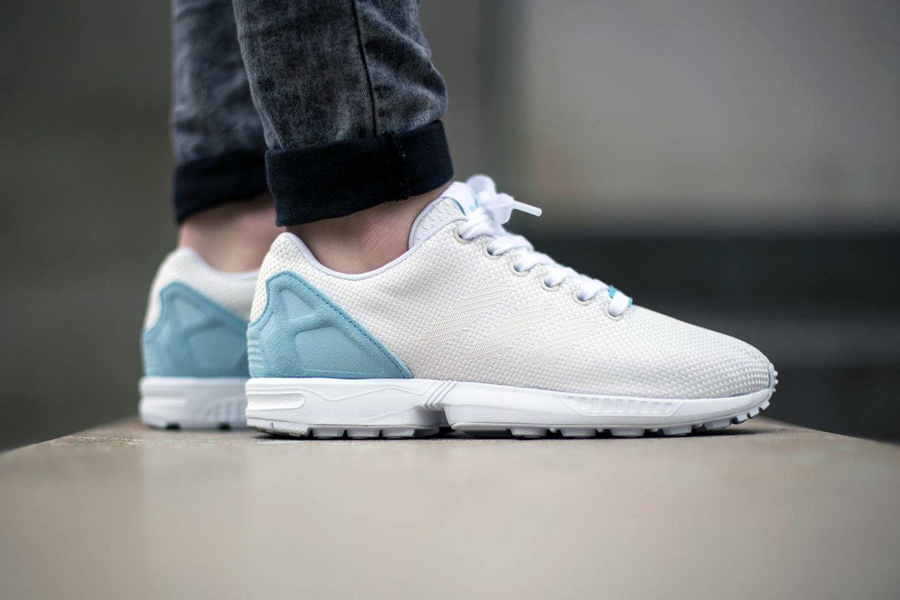 0008d5284 adidas Originals ZX Flux Weave Off White Blush Blue
