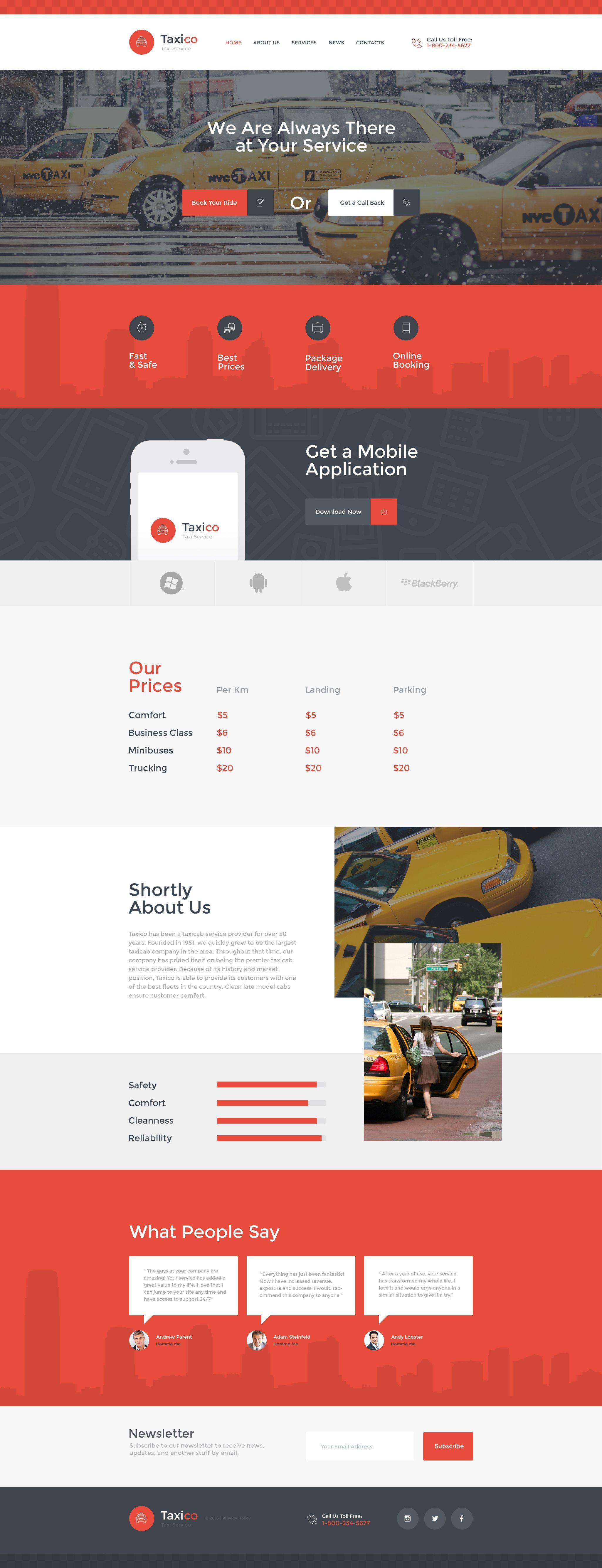 Taxico website template design web u interface pinterest