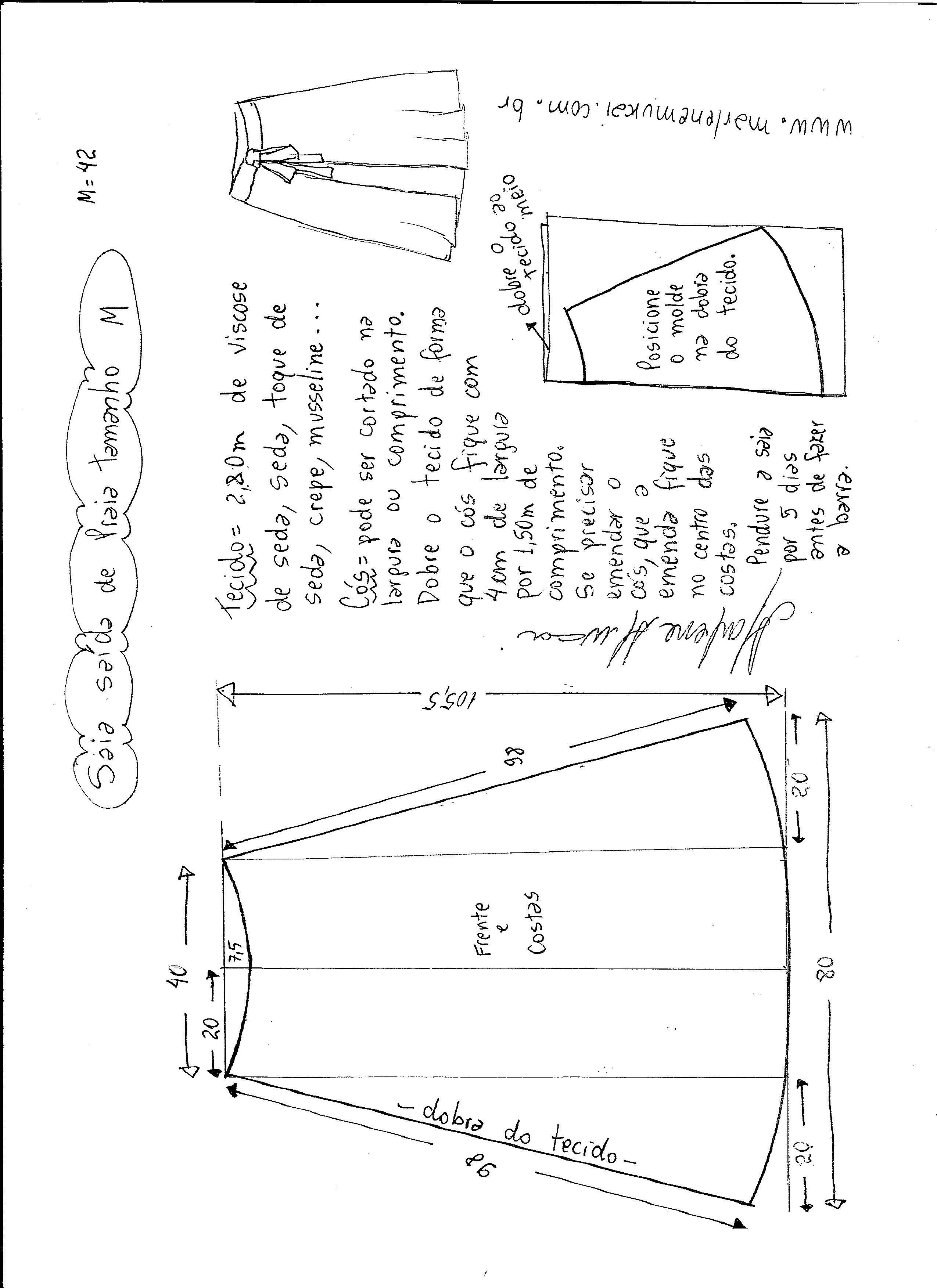 Patrón falda pareo para la playa | costura | Pinterest