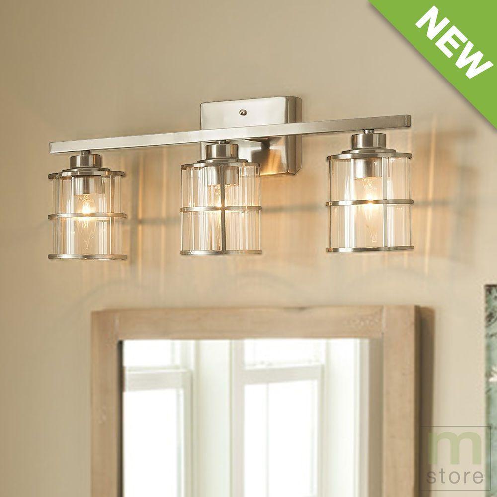Details About Bathroom Vanity 3 Light Fixture Brushed