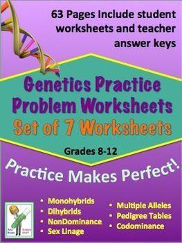Genetics practice problem worksheet bundle genetics worksheets chemistry fandeluxe Images