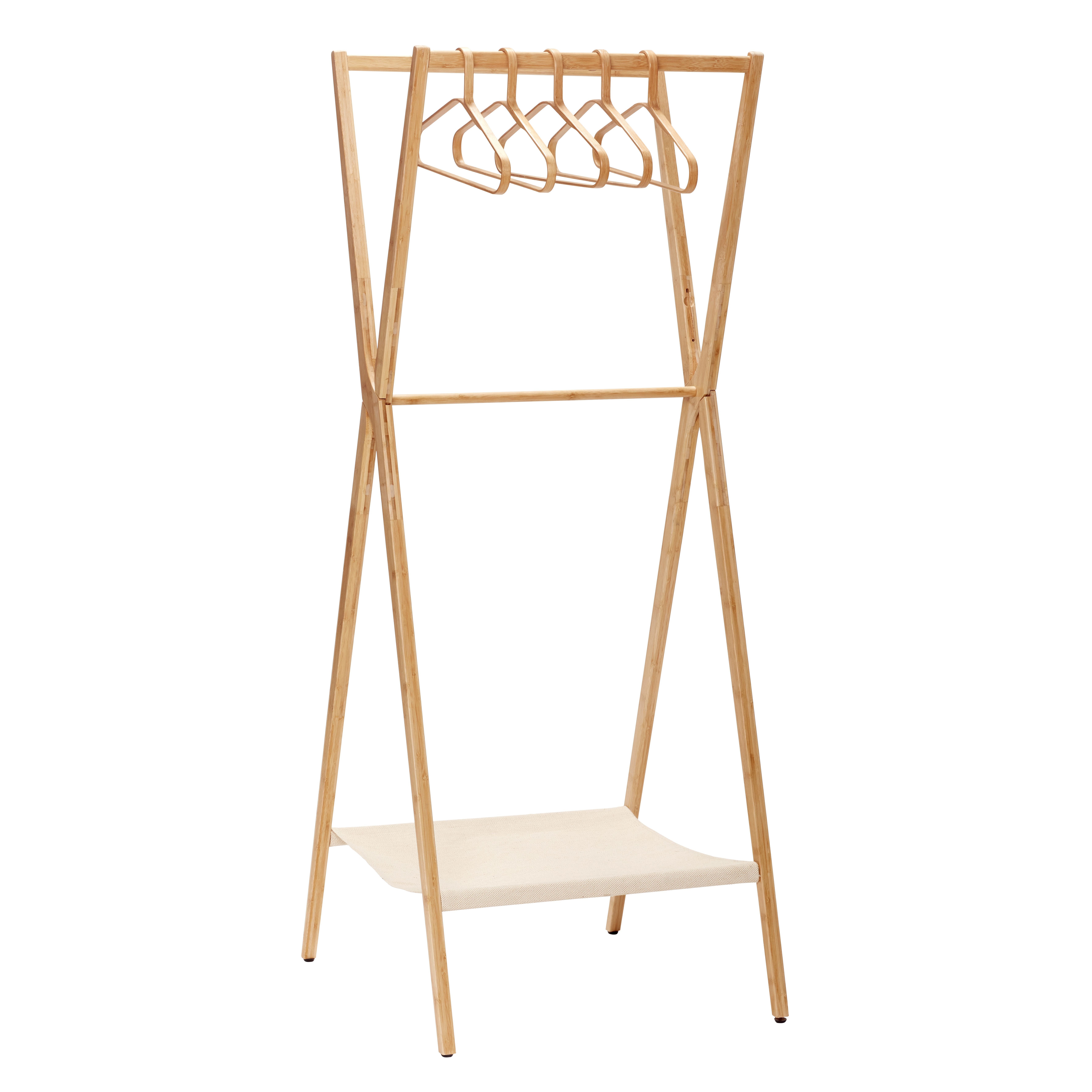 Bamboo Clothing Rack With Hangers Item Number 240401  Designed