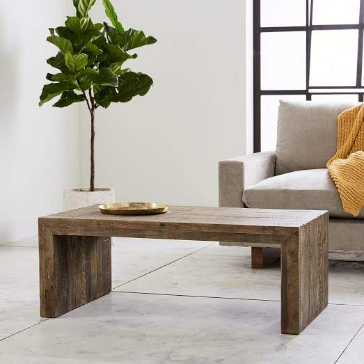 Emmerson 174 Reclaimed Wood Coffee Table Stone Gray Coffee Table Wood Coffee Table Solid Wood Coffee Table