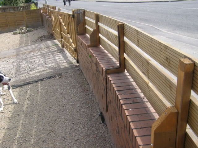 Click This Image To Show The Full Size Version Brick Fence Wooden