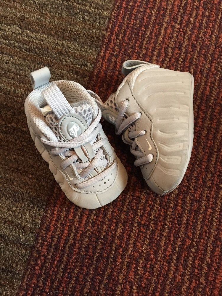 19f43e60a55  baby gray  nike foamposites size 1c crib soft   boys   girls  shoes from   30.0