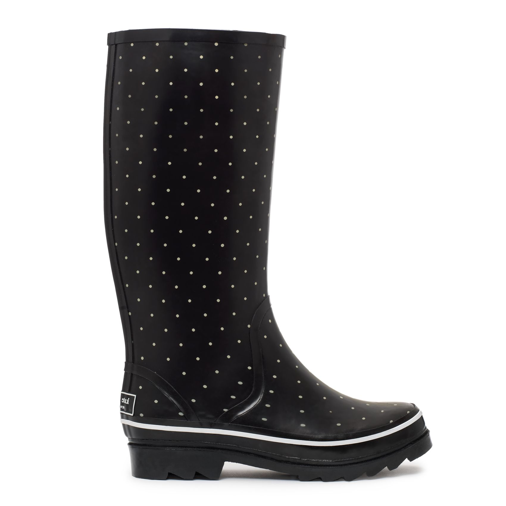 fefd05989c65 polka dot rain boots from kate spade new york. i wish i had these this  morning.