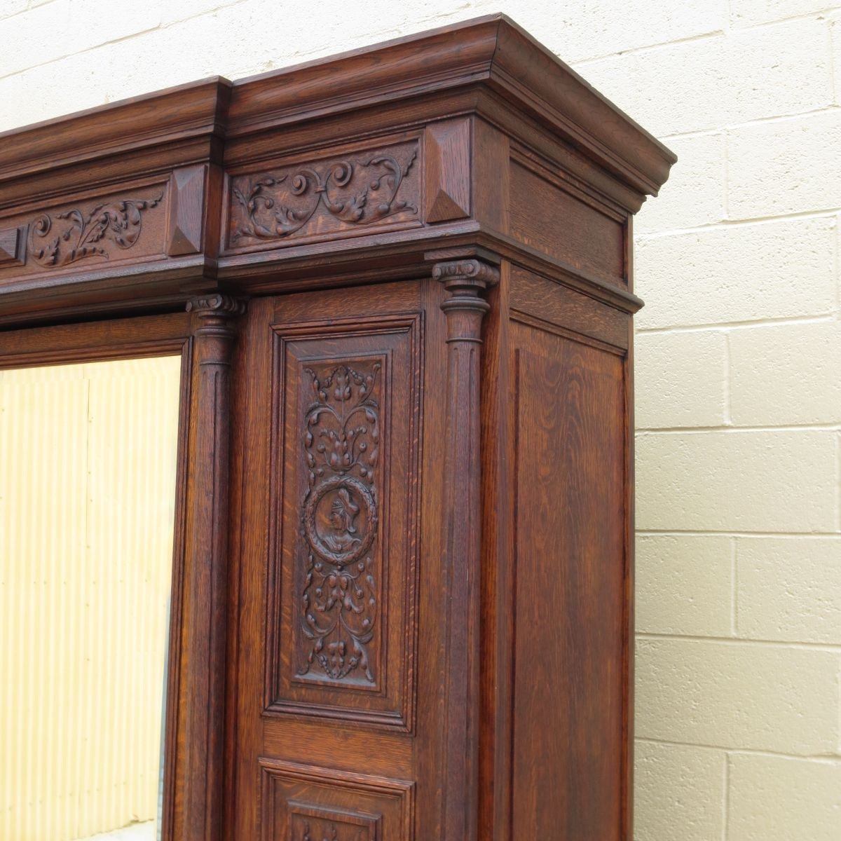 This Is A Elegant Hand Carved French Antique Armoire That Is Made Out Of  Solid Oak