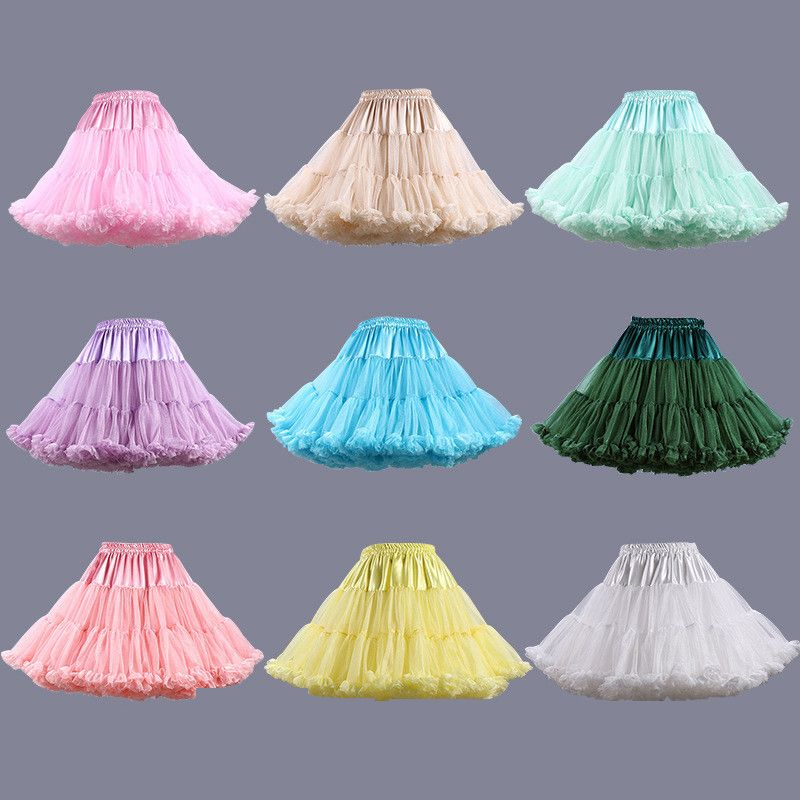 Hot Selling Multi Color Petticoat For Wedding Dress Women Underskirt ...