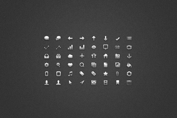 25 Fabulous Free Photoshop Icon Sets Design Talk Tips Glyph