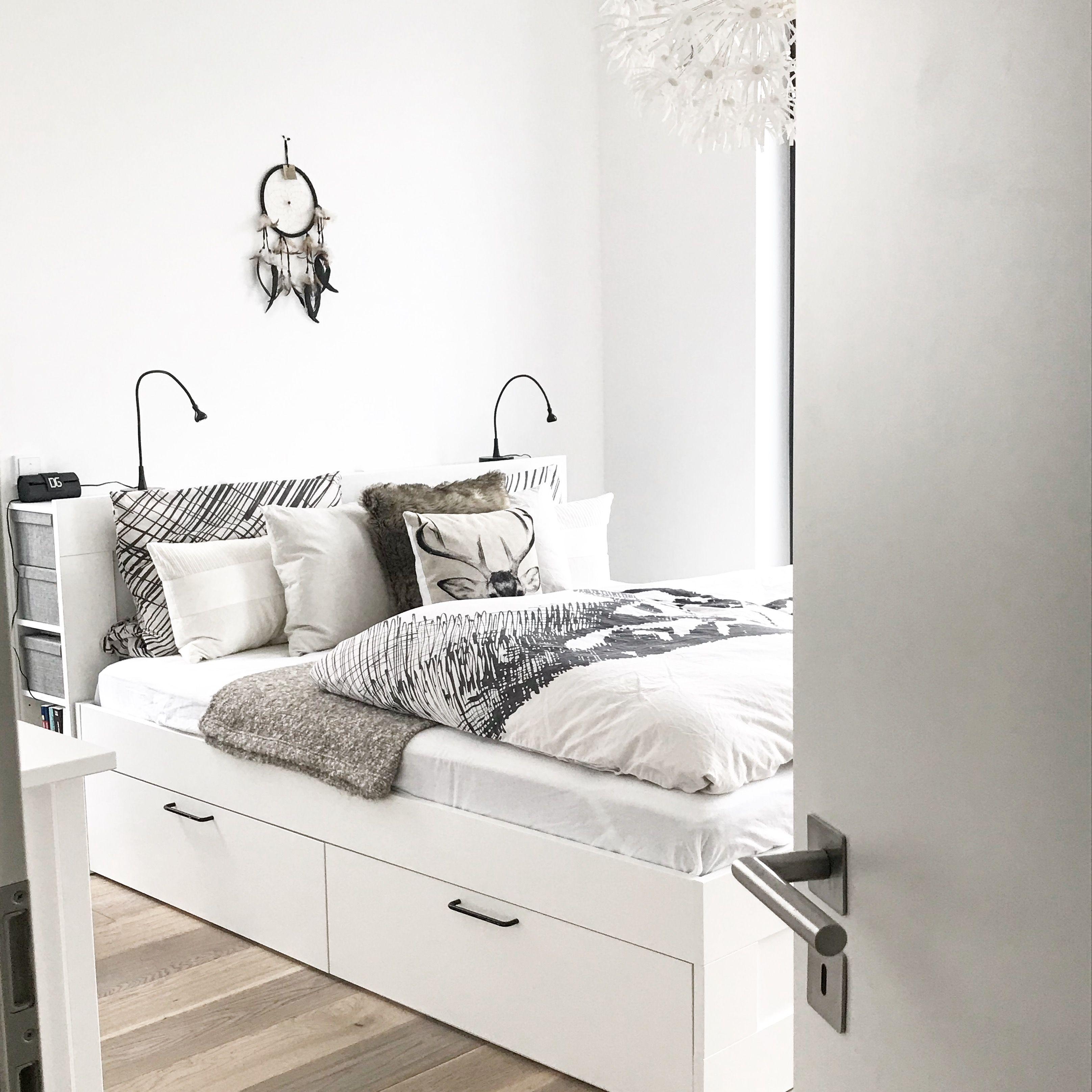 Ikea brimnes Bett bettkasten Stauraum Schlafzimmer bedroom ...