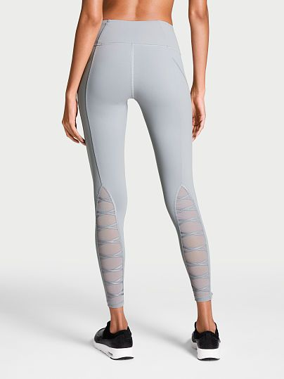 f21eee07831ab Knockout by Victoria Sport Tight -- BLACKBERRY/ROOKIE MESH *or* GREY  OASIS/LASER CUT - Size: Small