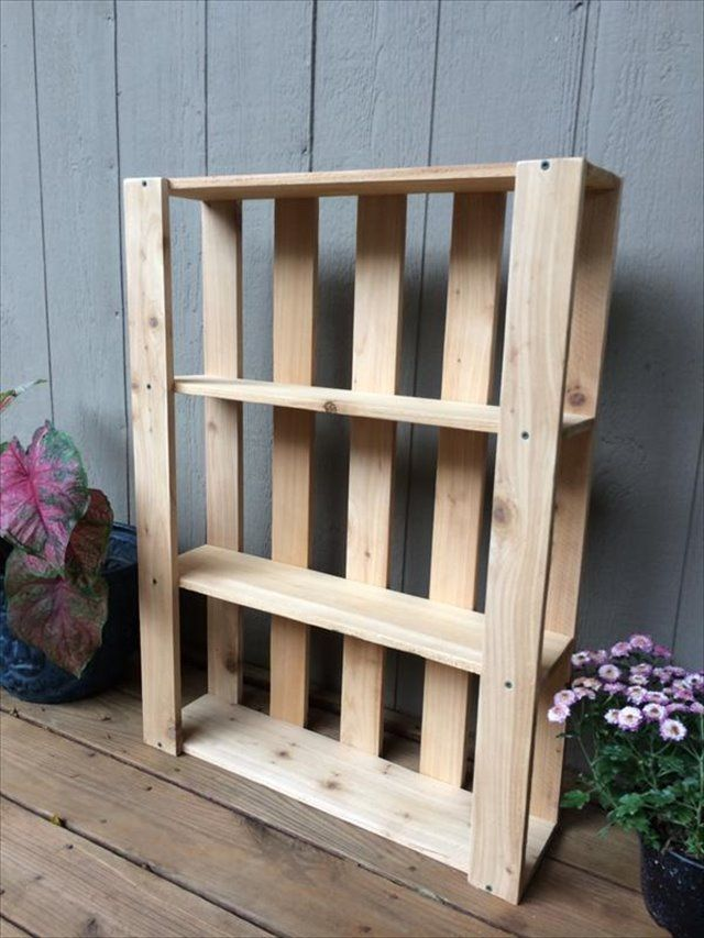 10 Diy Wood Pallet Shelf Ideas In 2019 Pallet Shelves Diy