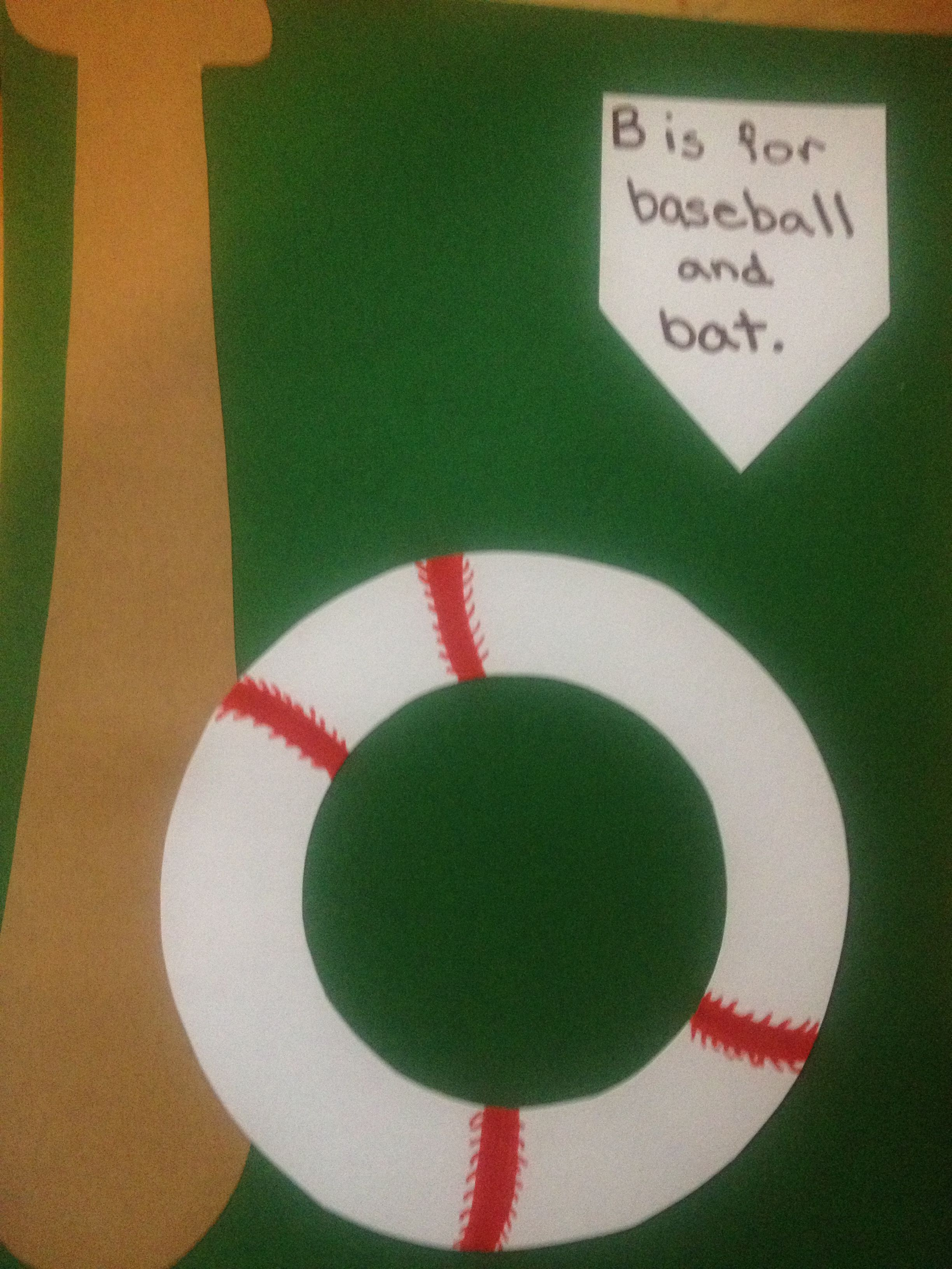 B Is For Baseball And Bat