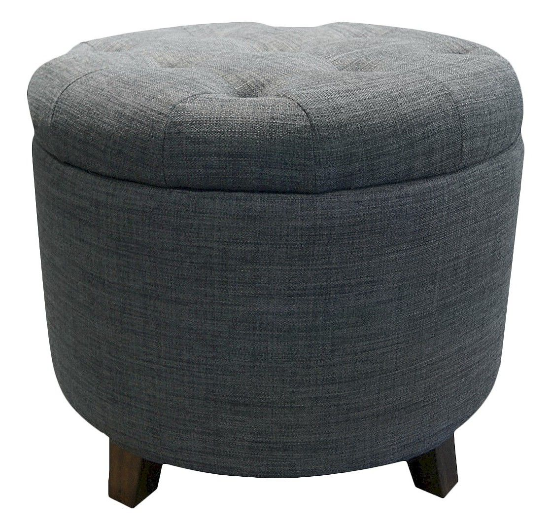 Tufted Round Storage Ottoman Threshold Studio Round