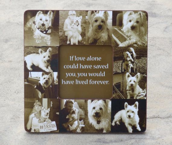 Pet Memorial Frame, Personalized Pet Memorial Collage Picture Frame ...