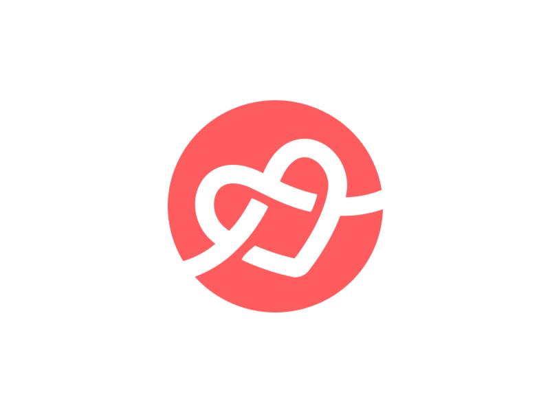 Love Knot Planner Logo Design Wedding Planner Logo Planner Logo