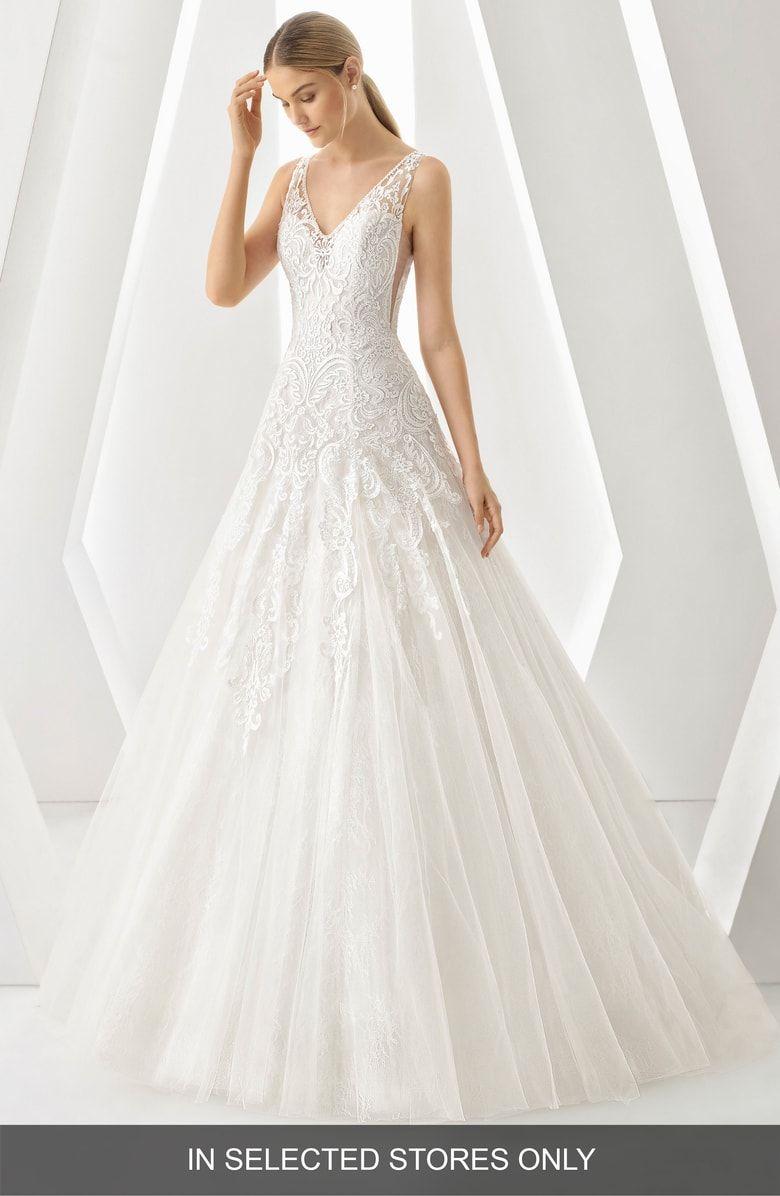 Nordstrom wedding dress  Free shipping and returns on Rosa Clará Denar VNeck Lace u Tulle