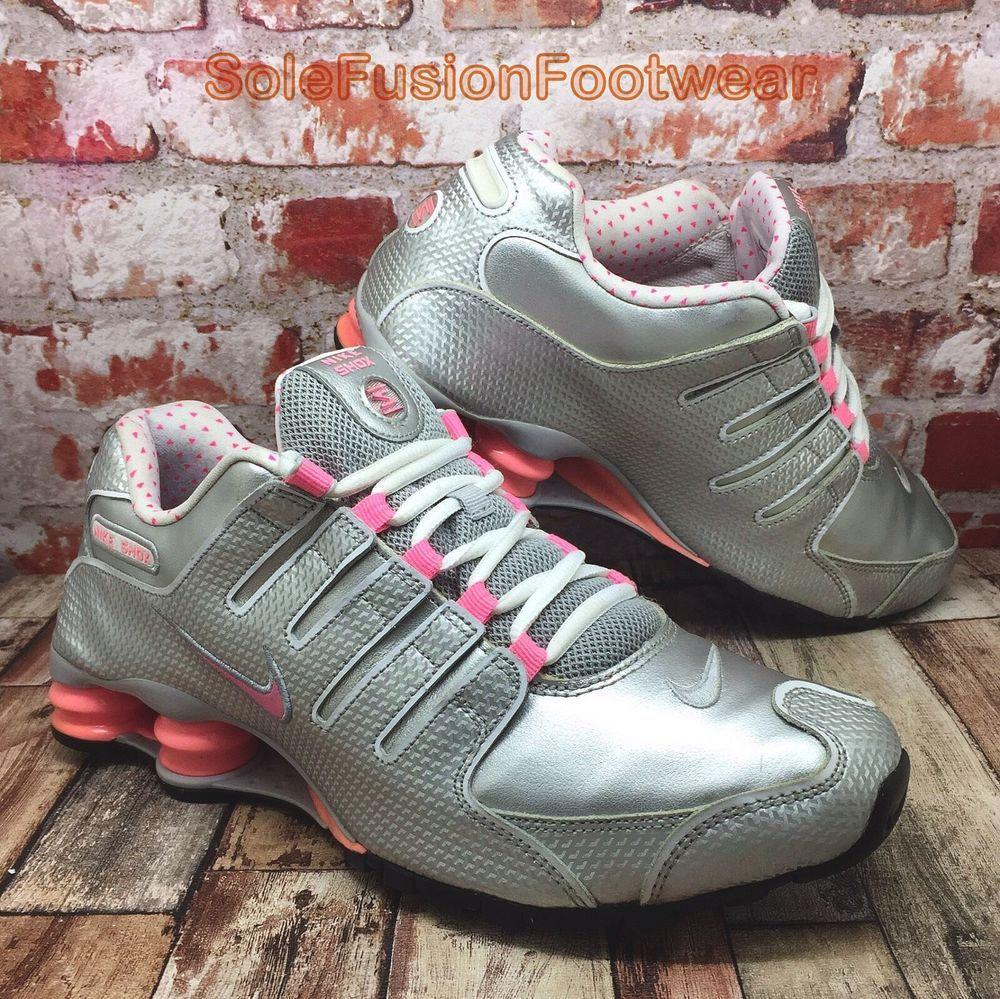 Mujeres Nike Shox Nz Running Zapatillas Trainers Plata  Rosa Zapatillas Running Talla 8 Us b2dd31