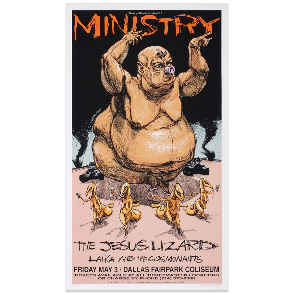 Ministry W The Jesus Lizard In 2020 Derek Hess Lizard