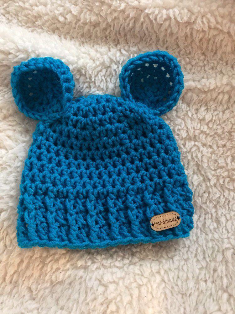 f89bdf8be10 Crochet newborn bear beanie  etsy  Cappello Orsetto per Bimbo all Uncinetto   crochetnewbornbeanie  crochetbabyhat  crochetbeanie  crochetbabybeanie ...