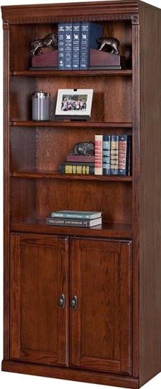 Huntington Oxford Library Bookcase Burnish Furniture