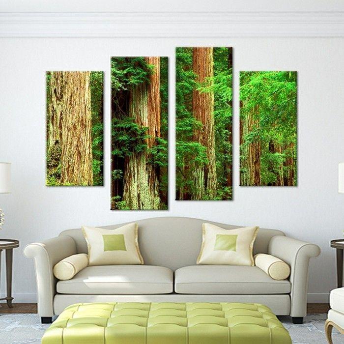 Leinwandbilder XXL - 60 wunderschöne Ideen für Wanddeko - Archzinenet - wohnzimmer rot orange