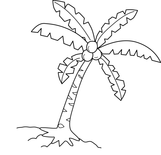 Coconut Tree Clip Art By White Lions Tree Coloring Page Coloring Pages Free Clip Art