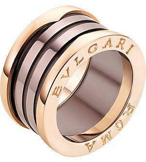 love this bvlgari bzero1 roma fourband 18ct pinkgold and bronze